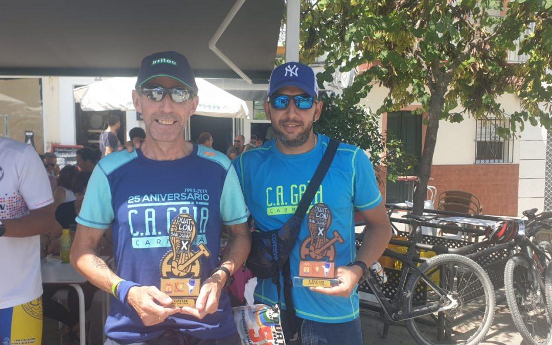 Premios en el circuito provincial de Duatlón